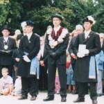 Sven Köhr mit seinen Begleitern Markus Bollig und Dirk Heinen