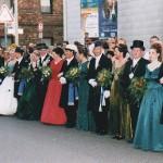 Die Königspaare nebst Gefolge bei der Parade