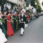 Hauptmann Markus Schneider beim Stechschritt