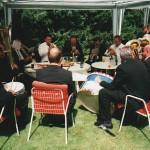 Die Blasmusik im Garten der Familie Köhr