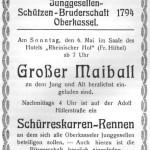 Anzeige für den Maiball, 1934