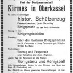 Eine Anzeige zur Kirmes 1937