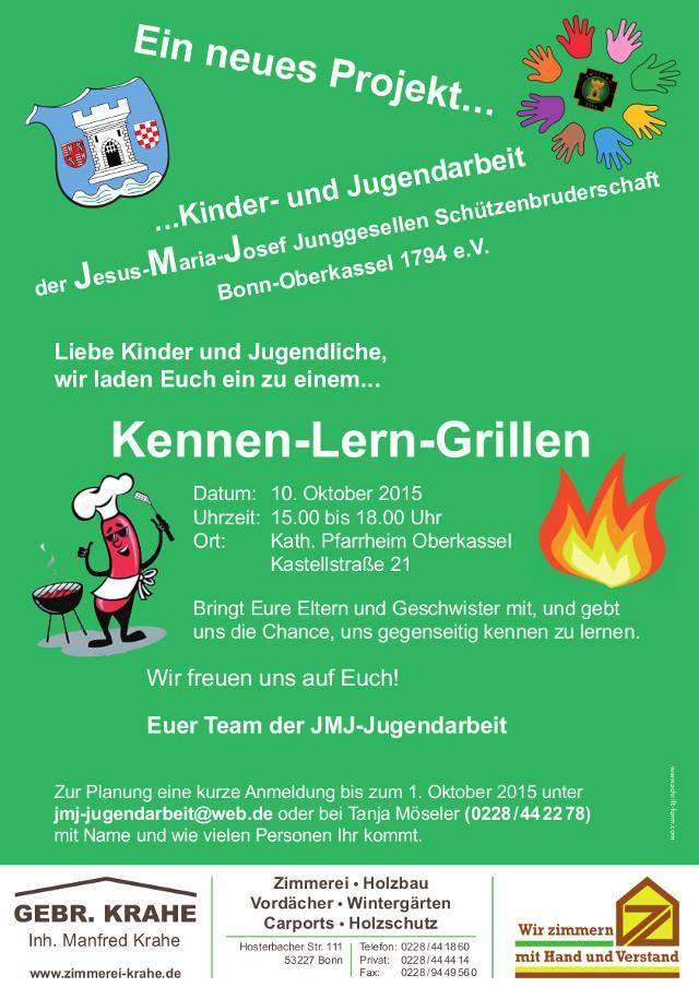 Plakat Kennen-Lern-Grillen am 10. Oktober 2015